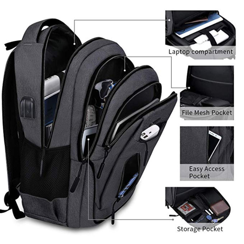 Large Compartment Travel Laptop Backpack